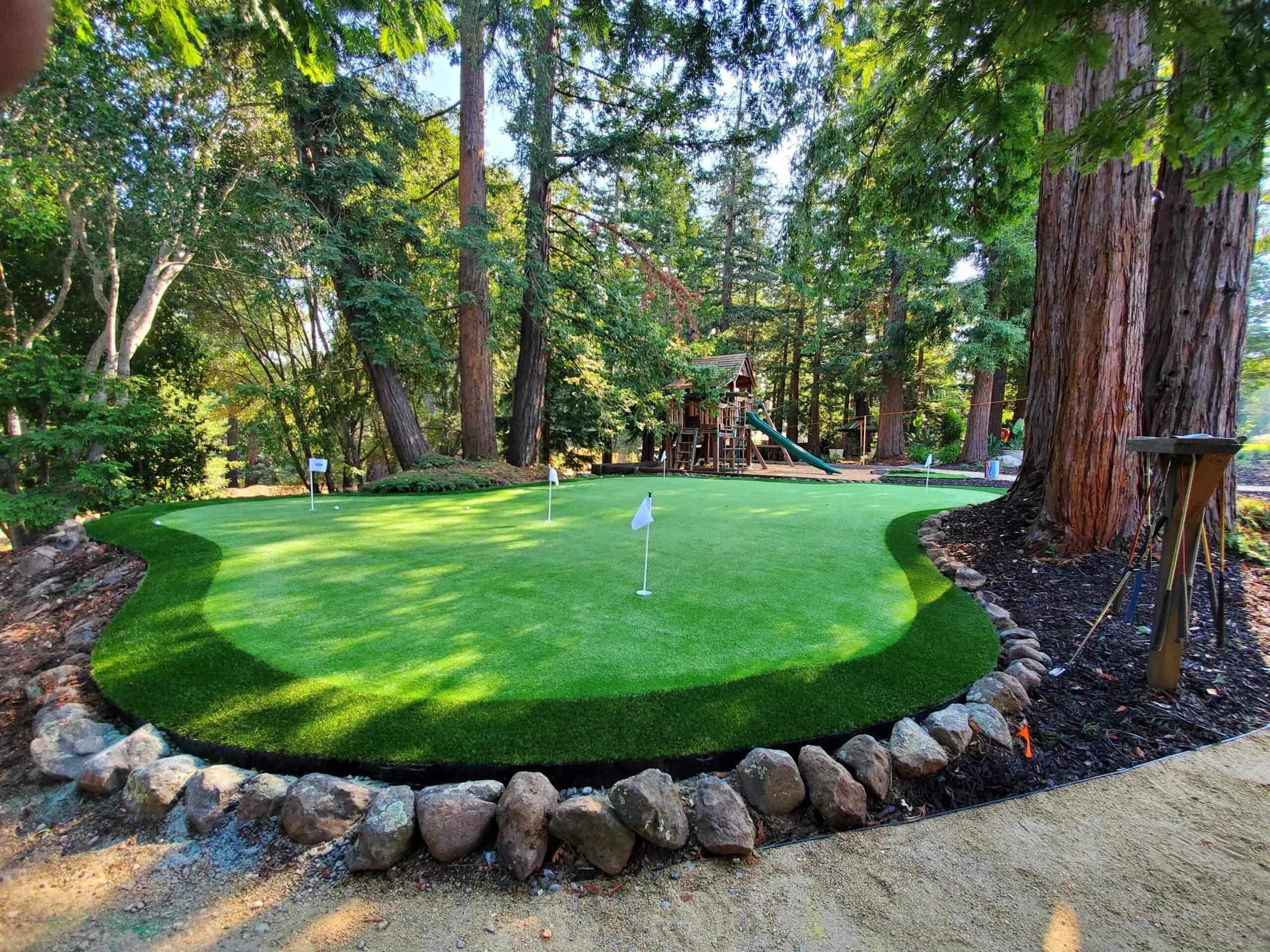 backyard artificial grass for golfers